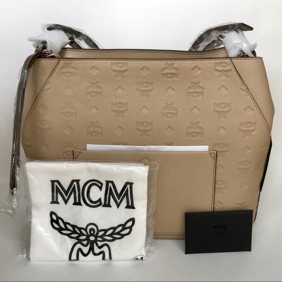99ac49f8ec MCM Large Klara Monogram Leather Hobo Handbag